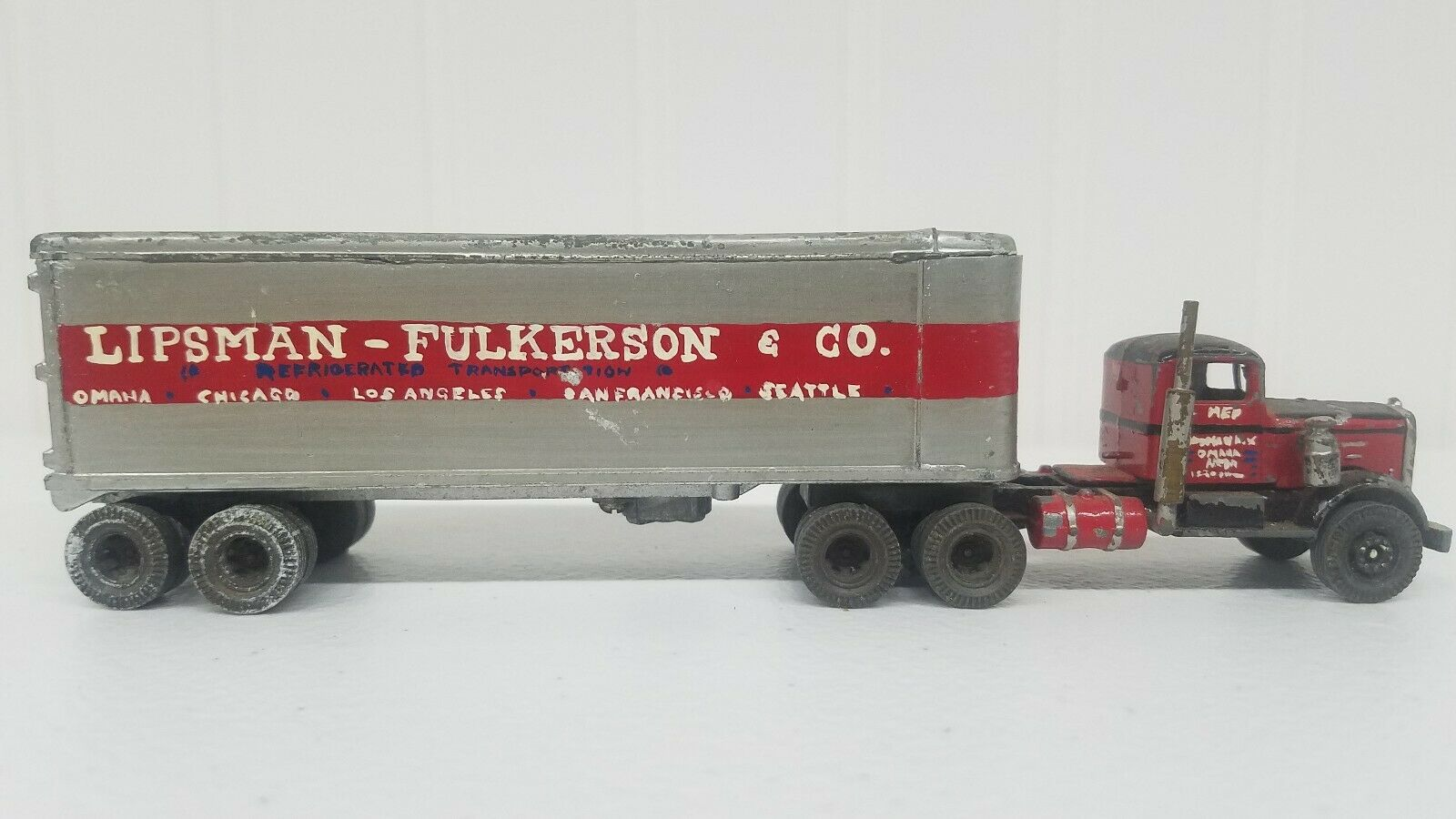 Ulrich he painted  Truck with lipsuomo & faulkerson trailer