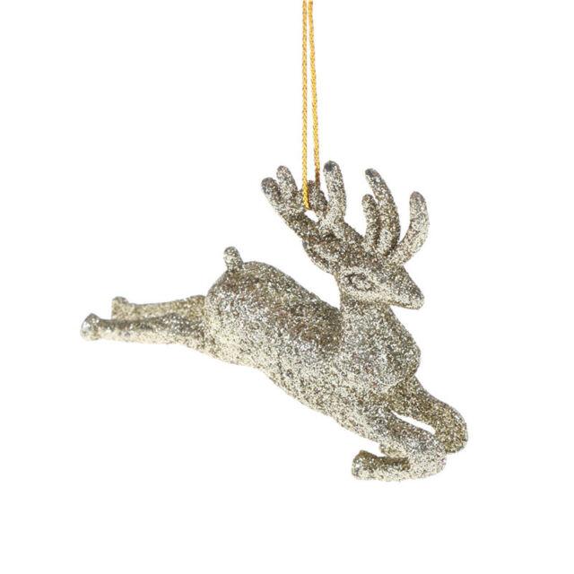3pcs Christmas Tree Ornaments Reindeer Deer Hanging Xmas Baubles Decor HU