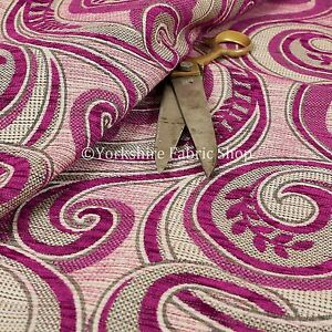 Details About Quality Weight Fuchsia Pink Chenille Upholstery Furnishing Fabric Floral Pattern