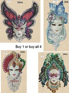 Cross Stitch Chart  Art Deco Lady Venetian Masks No264 set 1 - kings lynn, Norfolk, United Kingdom - Cross Stitch Chart  Art Deco Lady Venetian Masks No264 set 1 - kings lynn, Norfolk, United Kingdom
