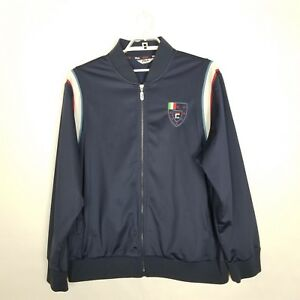 Track Jacket FILA Sport Italia Blue w/ Red and White ...