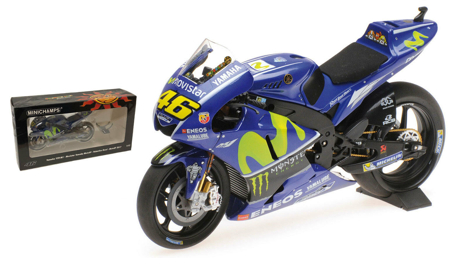 Minichamps MotoGP Yamaha YZR-M1 2017-escala 1 12 de Valentino Rossi
