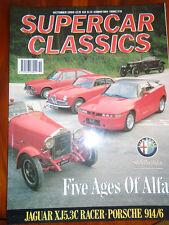 Supercar Classics Oct 1990 Alfa Romeo SZ, Jaguar XJ 5.3C racer, Porsche 914/6