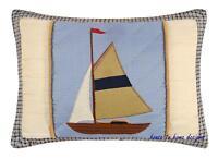 Atlantic Isle Boat Nautical Sailboat Throw Pillow
