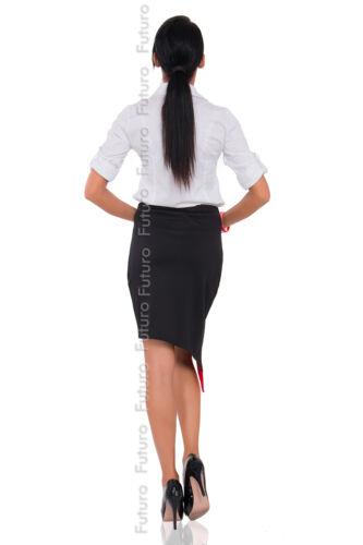 Womens Cut Out Wrap Asymmetrical Skirt Elastic Waist New Formal Size 8-12 FK1272