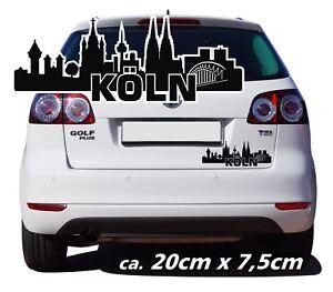 Details Zu Köln Skyline Köln Auto Aufkleber Silhouette Autotattoo Pkw Motiv Stadt