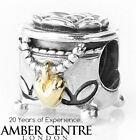Pandora breloque forme boîte à bijoux authentique argent / or 14 ct 791019