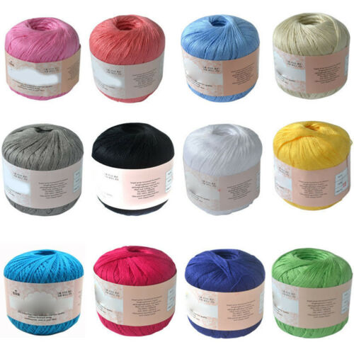 UK/_ MERCERIZED COTTON CORD THREAD YARN FOR EMBROIDERY CROCHET KNIT LACE JEWELRY