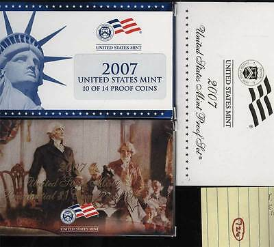 Lot of (1) 2007-S US Mint Proof and Presidential Set(s) in Mint Issue Box