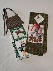 Design Imports Gingerbread Man Embellished Dishtowel