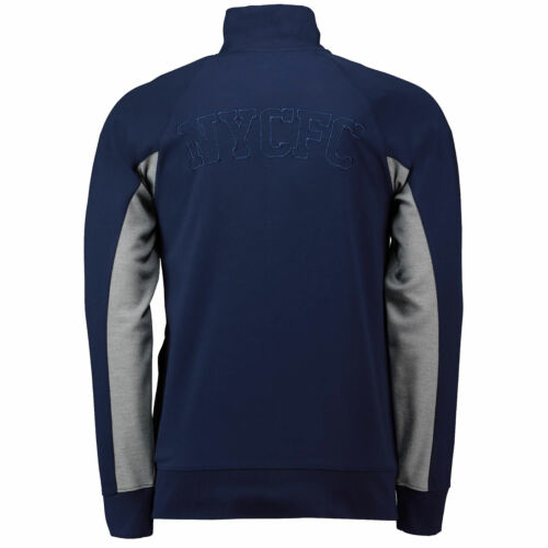 New York City FC Cut And Sew Track Jacket Top Navy Mens