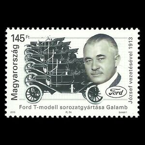 Hungary-2013-Car-Motor-Vehice-Model-T-Ford-under-Jozsef-Galamb-Sc-4261-MNH