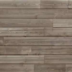 Details about Design Innovations Reclaimed Shiplap 10 5-sq ft Weathered  Grey Wood Wall Plank