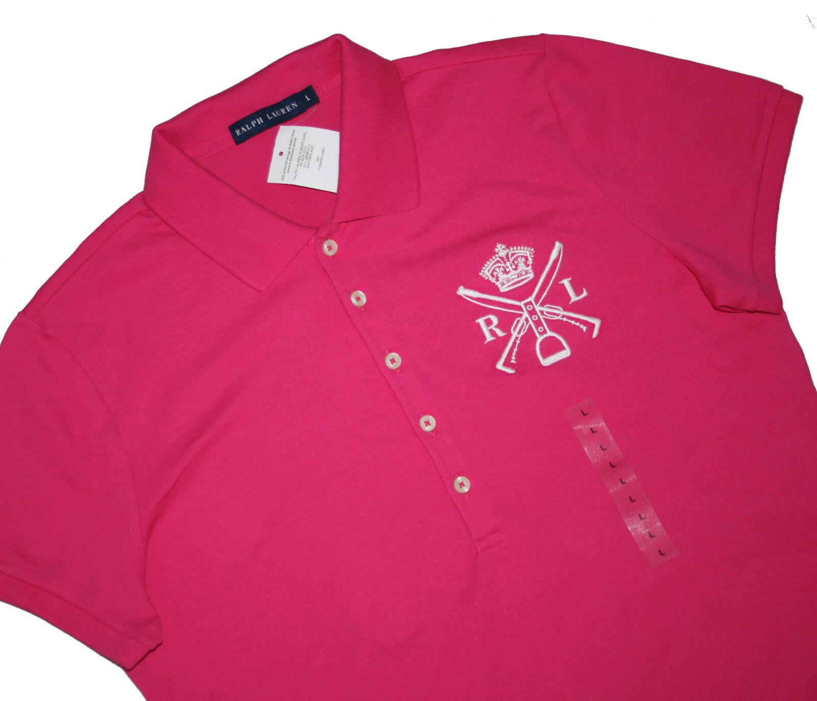 Polo Ralph Lauren Damen Cross Mallet Stretch Regular Fit Poloshirt Gr.S