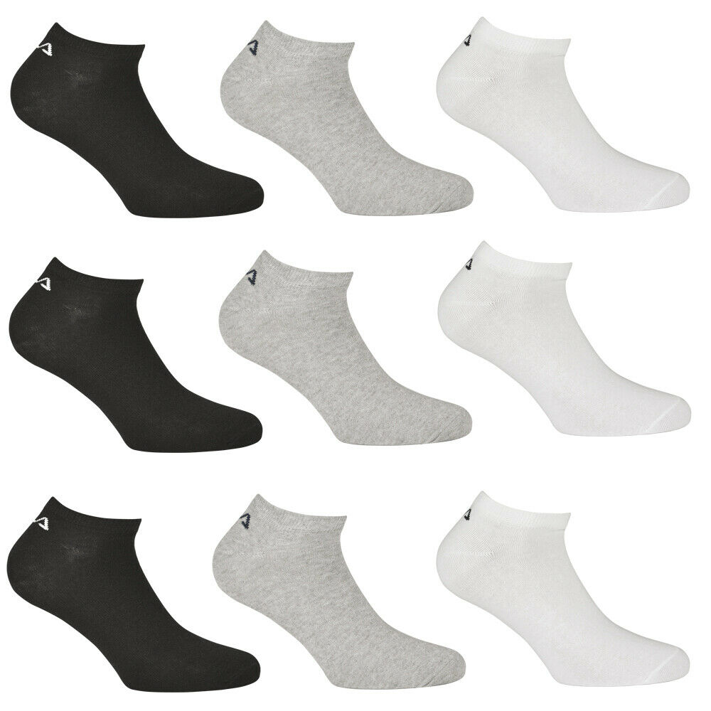 FILA 9 Paar Unisex Sneakersocken, Classic sortiert