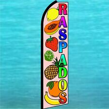 RASPADOS Shaved Ice Snow Cone Swooper Flag Tall Vertical Feather Bow Banner Sign