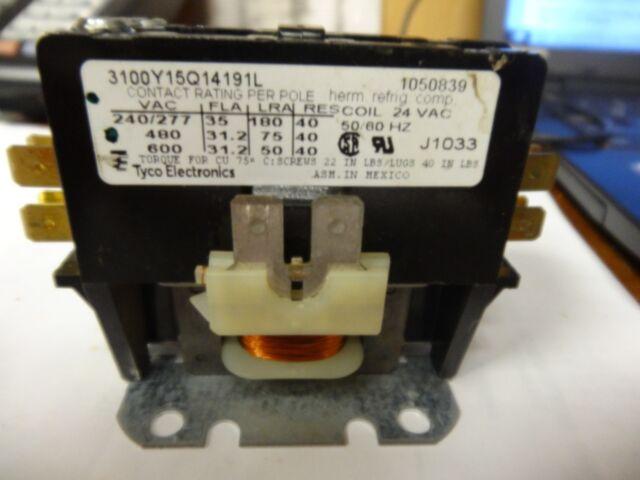 Mars 91311 24 Volt 1 Pole 30 Amp Condenser Contactor Relay 3100Y15Q200 50//60 HZ