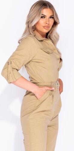 XS//S//M//L//XL Women/'s Belted Utility Jumpsuit