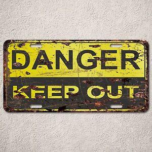 LP0091-Danger-Kepp-Out-Auto-Car-License-Plate-Sign-Rust-Vintage-Home-Store-Decor