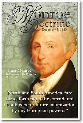 Monroe Doctrine US History Educational Classroom POSTER
