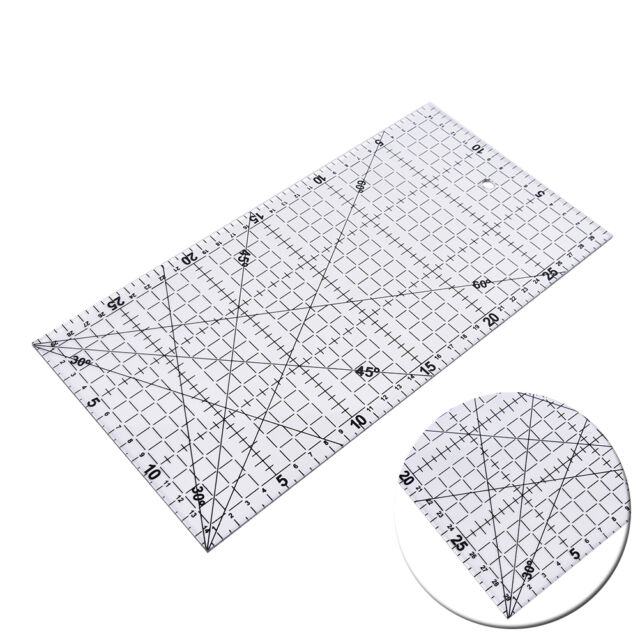 30x15cm Quilting Sewing Patchwork Foot Aligned Ruler Grid Tailor Craft Scale #JC