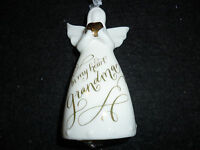Hallmark Gift Box in My Heart Grandma Angel Porcelain Ornament Figure Bell