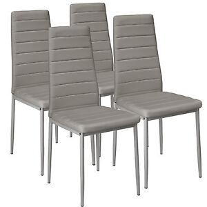 4x-Chaise-de-salle-a-manger-ensemble-salon-design-chaises-cuisine-neuf-gris