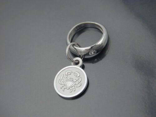 Kette Baby Taufe Taufring mit Sternzeichen und Schutzengel Echt Silber 925 inkl