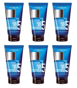 6pz l 39 oreal studio line pure wet gel capelli effetto bagnato 150ml nuovo ebay - Gel effetto bagnato ...