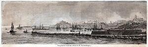 ANCONA: Panorama. Marca Anconitana. Marche. Stato Pontificio. Stampa Antica.1860