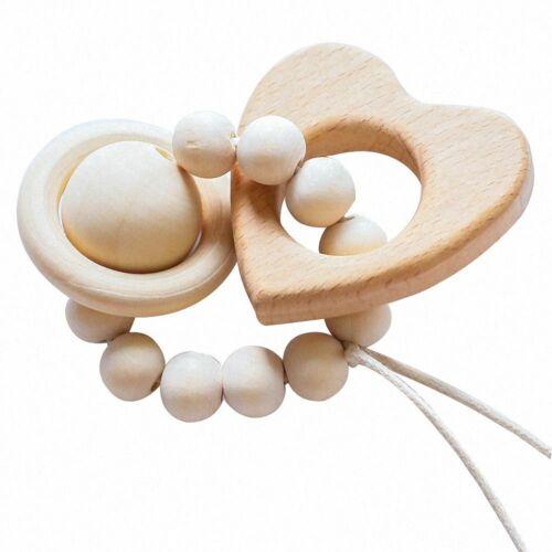 Baby Cartoon Animal Wooden Rattles Teether Baby Nursing Accessories Molar Stick