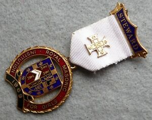 Royal-Masonic-jewel-medal-Steward-1969-Institution-for-Girls