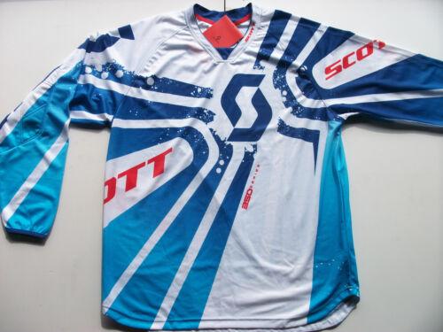 DH Fahrrad Trikot blau//gelb 201 Scott 350 Race Kids Kinder MX Motocross Jersey