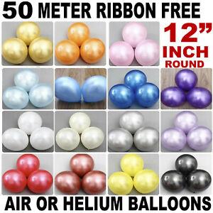 """100 Pcs Hélium perlée Latex Ballons 12"""" Mariage Anniversaire Baptême"""
