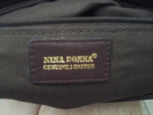 11x9x4 Brown Nina Donna lederen maat Messenger handtas crossbody 8kOPn0w