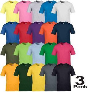 3-Pack-Gildan-Mens-Womens-Premium-Softstyle-Ringspun-Plain-Cotton-T-Shirt-Tee