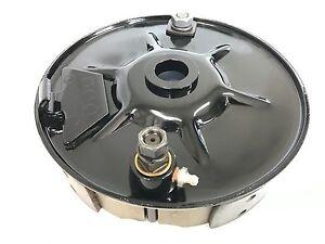 Harley Knucklehead Panhead UL Rear Brake Backing Plate Black 1937-57, 41646-37