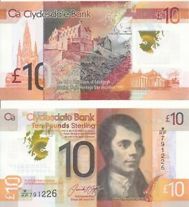 Scottish-Scotland-Clydesdale-Bank-10-pounds-2017-UNC-Pick-New-Polymer