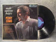 33 RPM LP Record Perry Como Make Someone Happy RCA Camden Records CAL-694