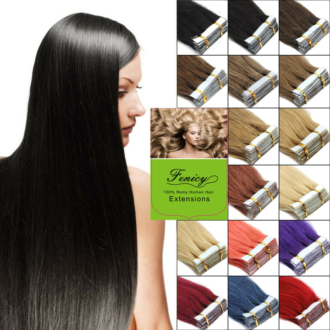 100 Real Indian Remy Human Hair Invisible Tape In Skin Weft Hair