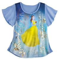 Disney Belle Women's Tshirt Beauty & The Beast Live Action Film Tee Xl Xlarge