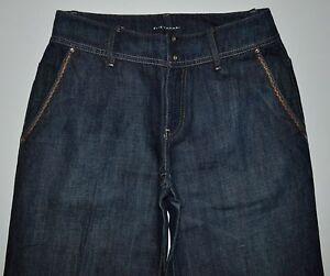 Leg Rise Wide Tahari Nicola 31 2 Elie 5 Jeans Cotton Mørkeblå X High Linen Størrelse wSxZxWYq6