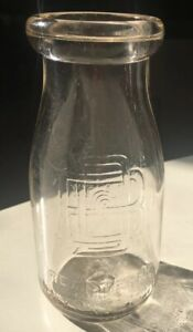 Vintage-Burschel-Dairy-Co-Scranton-PA-Half-Pint-Cream-Milk-Bottle