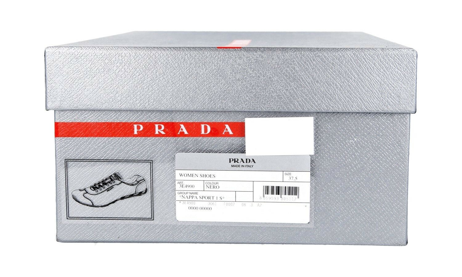 AUTHENTIC LUXURY PRADA baskets chaussures 3E4900 3E4900 3E4900 noir NEW US 10 EU 40 40,5 UK 7 7a853a