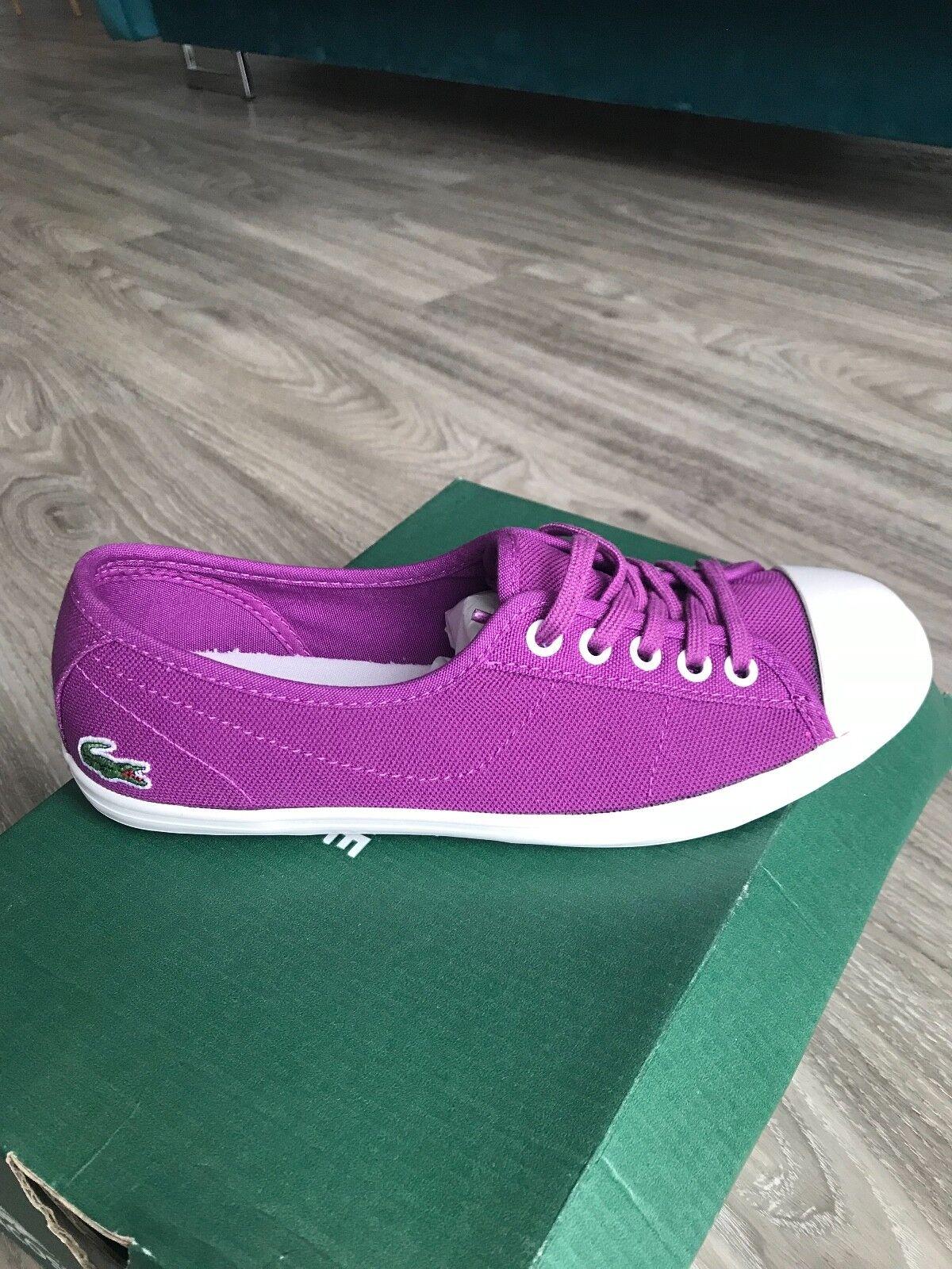 Lacoste Womens Purple Ziane Trainers UK 3   EUR 35.5