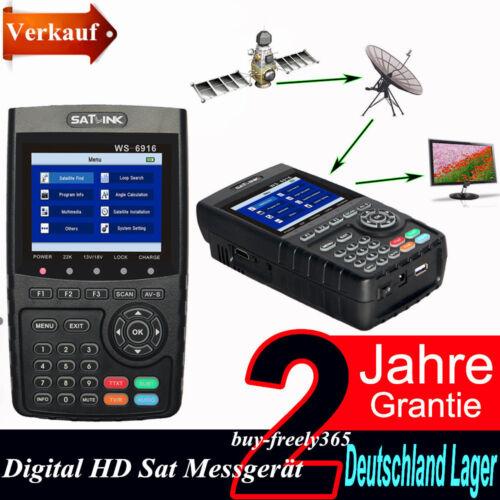 "3.5/"" Profi Satfinder Satlink WS-6916 DVB-S//S2 HD Sat Messgerät DVB Digital NEU"
