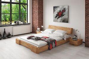 Massivholzbett Bett Schlafzimmerbett Mesa Eiche Massiv 200x200 Cm Ebay