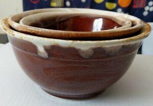 Vintage-set-of-3-oven-proof-bowls-mixing-baking-serving-stoneware-glazed-6-7-amp-8-034