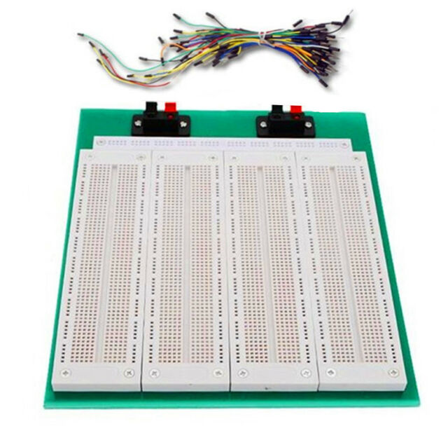 SYB-500 4-in-1 700 Tie-point PCB Solderless Breadboard + 65pcs Jumper Wire Cable