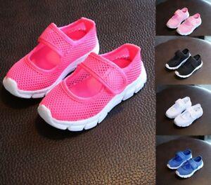 ed534f7a852bf Kids Boys Girls Summer Beach Flat Sandals Trainers Breathable Mesh ...